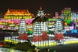 Ice buildings at the Harbin International Ice and Snow Sculpture Festival, Harbin, Heilungkiang Province, China
