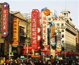 Store signs on East Nanjing Road, Shanghai, China