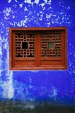 Blue Temple wall detail, Mingshan, Fengdu Ghost City, Fengdu, Yangtze River, Chongqing Province, China