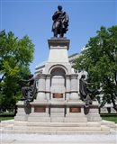 Governor Thomas A. Hendricks Monument at Indiana State Capitol Building
