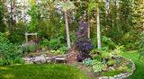 Backyard garden in Loon Lake, Spokane, Washington State, USA