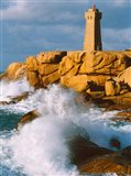 Ploumanac'h Lighthouse, Pink Granite Coast, Perros-Guirec, Cotes-d'Armor, Brittany, France