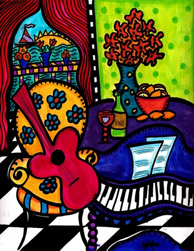 A Little Jazz By The Seaside Poster by Dawn Collins for $58.75 CAD