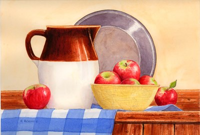 Apples In Yellow Bowl Poster by Maureen Mccarthy for $27.50 CAD