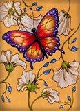 Gold-Purple Butterfly