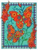 Orange & Blue Butterflies
