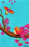 Pink Flower Birds