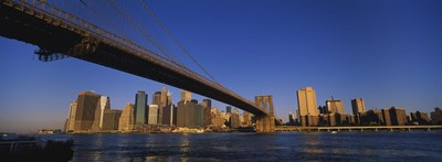 Brooklyn Bridge, East River, Manhattan, New York City, New York State Poster by Panoramic Images for $86.25 CAD