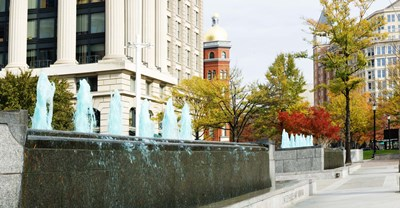 Fountains in front of a memorial, US Navy Memorial, Washington DC, USA Poster by Panoramic Images for $86.25 CAD