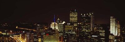 Buildings lit up at night in a city, Pittsburgh Pennsylvania, USA Poster by Panoramic Images for $86.25 CAD