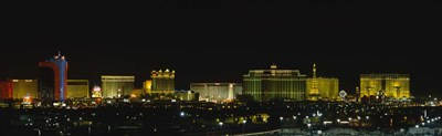 Las Vegas, Nevada at night Poster by Panoramic Images for $86.25 CAD