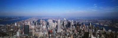 Aerial View, New York City, NYC, New York State, USA Poster by Panoramic Images for $86.25 CAD