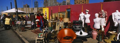 Group of people in a flea market, Hell's Kitchen, Manhattan, New York City, New York State, USA Poster by Panoramic Images for $86.25 CAD