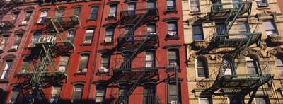 Low angle view of fire escapes on buildings, Little Italy, Manhattan, New York City, New York State, USA Poster by Panoramic Images for $86.25 CAD