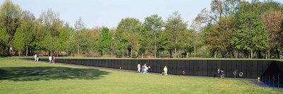 Tourists standing in front of a monument, Vietnam Veterans Memorial, Washington DC, USA Poster by Panoramic Images for $86.25 CAD
