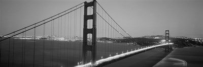 Golden Gate Bridge (black and white), San Francisco, California Poster by Panoramic Images for $86.25 CAD
