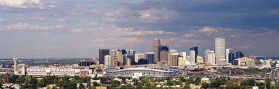 Skyline with Invesco Stadium, Denver, Colorado, USA Poster by Panoramic Images for $86.25 CAD