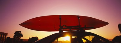 Close-up of a kayak on a car roof at sunset, San Francisco, California Poster by Panoramic Images for $86.25 CAD