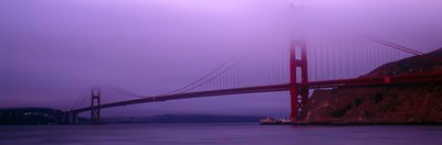 Suspension bridge across the sea, Golden Gate Bridge, San Francisco, Marin County, California, USA Poster by Panoramic Images for $71.25 CAD