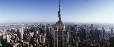 Aerial view of a cityscape, Empire State Building, Manhattan, New York City, New York State, USA Poster by Panoramic Images for $86.25 CAD