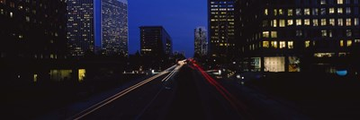 Buildings lit up at night, Century City, Los Angeles, California, USA Poster by Panoramic Images for $86.25 CAD