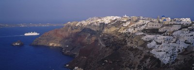 Aerial view of a town, Santorini, Greece Poster by Panoramic Images for $67.50 CAD