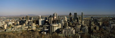Aerial view of skyscrapers in a city from Chalet du Mont-Royal, Mt Royal, Kondiaronk Belvedere, Montreal, Quebec, Canada Poster by Panoramic Images for $82.50 CAD