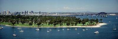 Bridge across a bay, Coronado Bridge, San Diego, California, USA Poster by Panoramic Images for $71.25 CAD