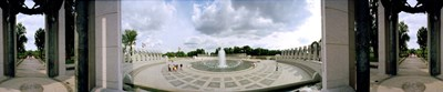 360 degree view of a war memorial, National World War II Memorial, Washington DC, USA Poster by Panoramic Images for $86.25 CAD