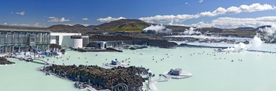 Tourists at a spa lagoon, Blue Lagoon, Reykjavik, Iceland Poster by Panoramic Images for $71.25 CAD