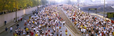 Crowd running in a marathon, Chicago Marathon, Chicago, Illinois, USA Poster by Panoramic Images for $86.25 CAD