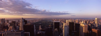 Cityscape at sunset, Central Park, East Side of Manhattan, New York City, New York State, USA 2009 Poster by Panoramic Images for $86.25 CAD
