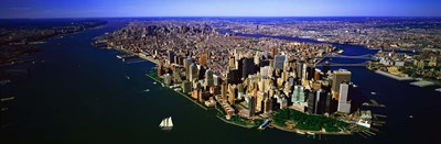 Aerial view of lower Manhattern, New York City, New York State, USA Poster by Panoramic Images for $86.25 CAD