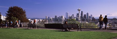 View of Seattle from Queen Anne Hill, King County, Washington State, USA 2010 Poster by Panoramic Images for $86.25 CAD