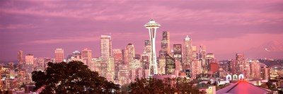 Night view of Seattle, King County, Washington State, USA 2010 Poster by Panoramic Images for $86.25 CAD