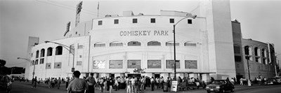People outside a baseball park, old Comiskey Park, Chicago, Cook County, Illinois, USA Poster by Panoramic Images for $71.25 CAD