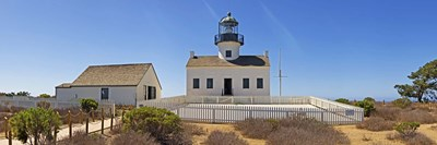 Lighthouse, Old Point Loma Lighthouse, Point Loma, Cabrillo National Monument, San Diego, California, USA Poster by Panoramic Images for $71.25 CAD