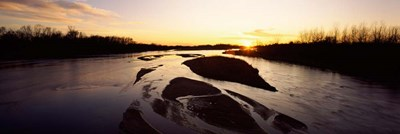 Platte River at Sunset, Nebraska Poster by Panoramic Images for $90.00 CAD