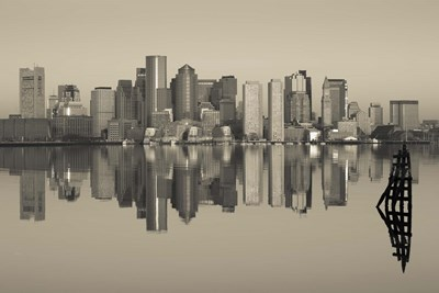 Reflection of buildings in water, Boston, Massachusetts, USA Poster by Panoramic Images for $71.25 CAD
