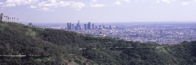 Aerial view of Los Angeles from Griffith Park Observatory Poster by Panoramic Images for $86.25 CAD