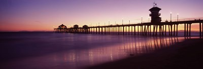 Pier in the sea, Huntington Beach Pier, Huntington Beach, Orange County, California Poster by Panoramic Images for $71.25 CAD