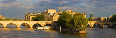 Arch bridge over a river, Pont Neuf, Seine River, Isle de la Cite, Paris, Ile-de-France, France Poster by Panoramic Images for $86.25 CAD