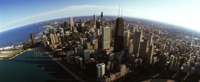 Aerial view of Chicago and lake, Cook County, Illinois, USA 2010 Poster by Panoramic Images for $86.25 CAD
