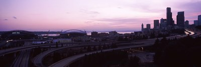 City at sunset, Seattle, King County, Washington State, USA Poster by Panoramic Images for $86.25 CAD