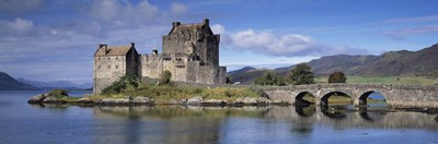 Castle on an island, Eilean Donan, Loch Duich, Dornie, Highlands Region, Scotland Poster by Panoramic Images for $71.25 CAD