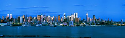 Manhattan skyline at dusk, New York City, New York State, USA Poster by Panoramic Images for $86.25 CAD