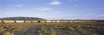 Freight train in a desert, Trona, San Bernardino County, California, USA Poster by Panoramic Images for $86.25 CAD