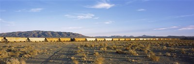 Freight train in a desert, Trona, San Bernardino County, California, USA Poster by Panoramic Images for $71.25 CAD