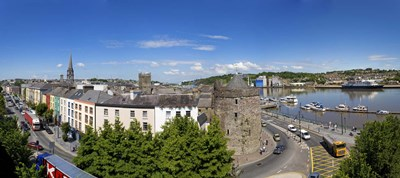 Quayside, Reginald's Tower, River Suir, Waterford City, County Waterford, Republic of Ireland Poster by Panoramic Images for $86.25 CAD