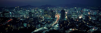 Aerial view of a city, Seoul, South Korea 2011 Poster by Panoramic Images for $86.25 CAD